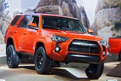 De Toyota quatre PRO Detroit salon de l'Auto 2015 du coureur TRD Photos stock