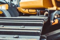 De tractor van het ijzerkruippakje bij de tentoonstelling stock foto