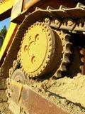 De tractordetail van de bulldozer Stock Foto