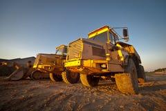 De Tractoren van de bouw Royalty-vrije Stock Foto's