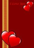 De traditionele Achtergrond van de Dag van Valentijnskaarten Stock Fotografie
