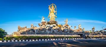 De traditionele Balinese kunst en de cultuur van het steenbeeldhouwwerk in Bali, Indonesië Royalty-vrije Stock Afbeelding