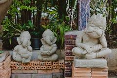 De traditionele Boedha beeldhouwwerken van Thailand, Chiang Mai Stock Afbeelding