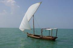 De traditionele boot van het Zeil Dhow stock foto's