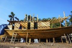 De traditionele bootbouw Stock Afbeelding