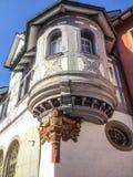 De traditionele Bouw Buiten in oude stad van St Gallen, Zwitserland, Europa stock fotografie