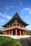 De traditionele bouw van Korea, Vulkanisch Eiland Jeju Stock Afbeelding