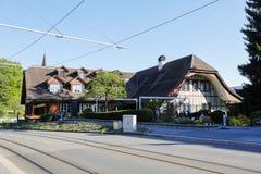 De traditionele bouw waarin het hotel nu werkt Royalty-vrije Stock Afbeeldingen