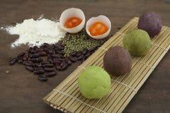 De traditionele cake van de maancake van Vietnamees - het Chinese medio voedsel van het de herfstfestival Stock Afbeelding