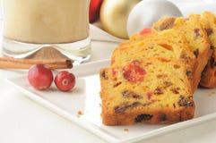 De traditionele Cake van het Kerstmisfruit royalty-vrije stock afbeeldingen