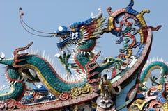 De traditionele Chinese hoek van het tempeldak Stock Fotografie