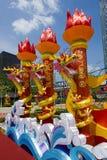 De traditionele Chinese Lantaarn van de Draak Stock Foto