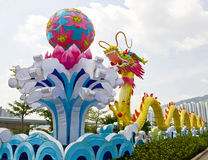 De traditionele Chinese Lantaarn van de Draak Stock Fotografie