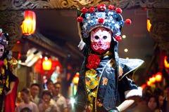 De traditionele Chinese Opera van Sichuan Stock Foto's