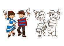 De Traditionele dans van Chili royalty-vrije illustratie