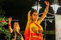 De traditionele dans van India. royalty-vrije stock foto