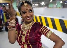 De traditionele danser van Lankan van Sri Stock Afbeeldingen