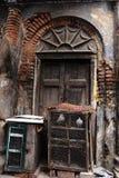 De traditionele deur van oude kolkata royalty-vrije stock foto's