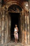 De traditionele deur van oude kolkata Stock Foto's