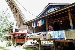 De traditionele dorpen in Tana Toraja, Sulawesi royalty-vrije stock fotografie