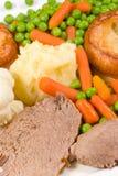 De traditionele Engelse lunch van de Zondag royalty-vrije stock foto