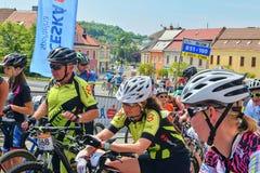 De traditionele Fiets van de fietsconcurrentie voor het leven Raceauto's die wachten te beginnen Royalty-vrije Stock Afbeelding