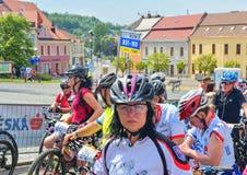 De traditionele Fiets van de fietsconcurrentie voor het leven Raceauto's die wachten te beginnen Royalty-vrije Stock Fotografie
