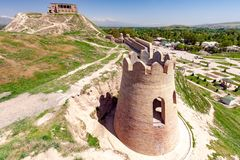 De traditionele gebouwen van Tadzjikistan royalty-vrije stock foto