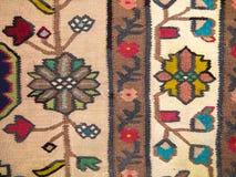 De traditionele Griekse Close-up van het Tapijt stock afbeeldingen