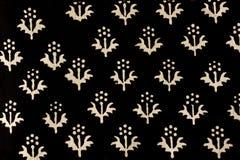 De traditionele hand drukte Indische stof af Stock Afbeelding