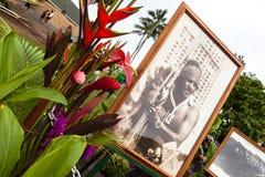 De traditionele Hawaiiaanse openingsceremonie van Eddie Aikau Stock Foto's
