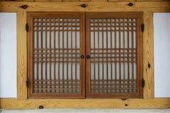 De traditionele houten vensters van Korea Stock Afbeeldingen