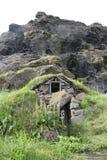 De traditionele Ijslandse Huizen van het Gras Royalty-vrije Stock Afbeeldingen