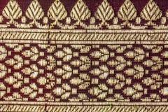 De traditionele Indische stoffentextuur met patronen kan als B worden gebruikt stock afbeelding