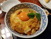 de traditionele Japanse schotel van de rijstkom stock afbeelding