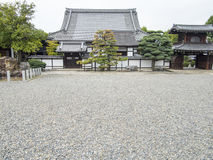 De traditionele Japanse tempelbouw Royalty-vrije Stock Afbeelding