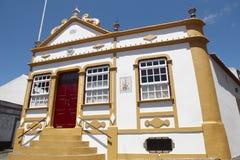 De traditionele kapel van de Azoren Imperiodos Quatro Cantos Terceira Stock Fotografie