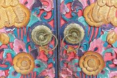 De traditionele Kleurrijke Balinese Knop van de Stijldeur, Indonesië Stock Fotografie