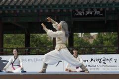 De traditionele Koreaanse Krijgs van de kunstprestaties en Ervaring Gebeurtenis toont Royalty-vrije Stock Afbeelding