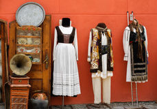 De traditionele kostuums van Transsylvanië Stock Foto
