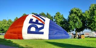 De traditionele lancering van de hete luchtballon Royalty-vrije Stock Foto