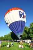 De traditionele lancering van de hete luchtballon Royalty-vrije Stock Foto's