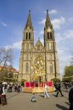 De traditionele markten van Pasen in Praag Stock Afbeelding
