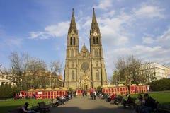 De traditionele markten van Pasen in Praag Royalty-vrije Stock Afbeeldingen