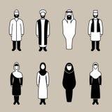 De traditionele moslimreeks van het mensenpictogram Stock Afbeelding
