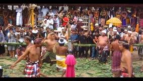 De Traditionele Pandanus Oorlog van Bali stock videobeelden