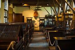 De traditionele Printshop Zaal van de Drukpers Stock Foto