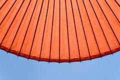 De traditionele rode paraplu van Japan Royalty-vrije Stock Fotografie