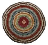 De traditionele Russische ronde breit met de hand gemaakte Mat. Royalty-vrije Stock Foto
