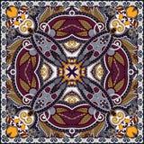 De traditionele sier bloemenbandana van Paisley Royalty-vrije Stock Afbeelding